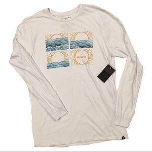 Hurley Sunrise Ocean Waves Long Sleeve Shirt NWT